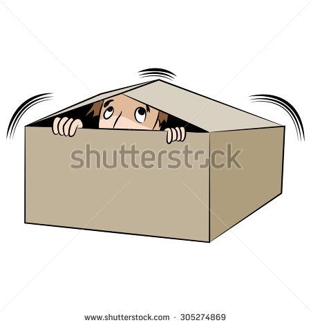 stock-vector-an-image-of-a-cartoon-man-hiding-in-a-box-305274869